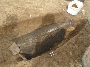 Decapitated Roman skeleton on site 1