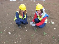 Outreach Officers at Hinkley Point excavation