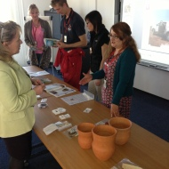 A chance to look at some archaeological finds after one of our talks