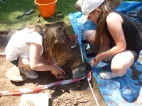 Young archaeologists at work