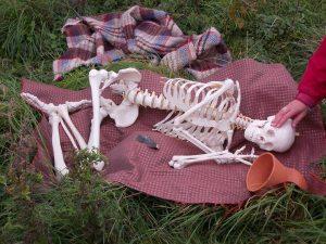 Interpretation of burial for Mark Primary School