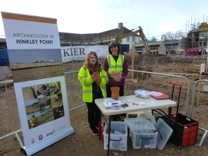 Jane and Rachel at an excavation open day