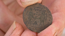 Coin of Magnentius (reverse side) – photo by Justin Owen