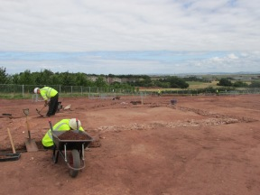 View across 2014 excavation. Cannington quarry in background.