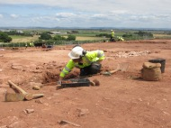 Excavating the Roman building 1