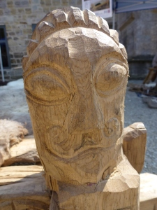 Celtic face carving