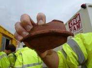 Roman Samian ware pottery base