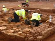 Excavating the Roman villa on the Cannington by pass