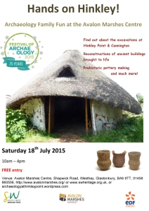 festival of archaeology avalon marshes poster 1
