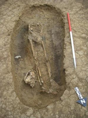 Decapitated Roman female burial discovered on site 1