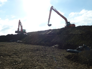 Excavation at Hinkley Point