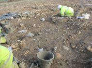 Excavation of the cemetery at Hinkley Point