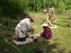 Saxon wood-working demonstration
