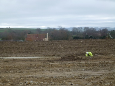 View looking south across site 7 at Shurton