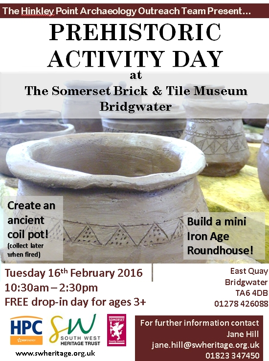 prehistory activity day poster
