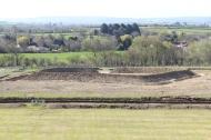 Bronze Age enclosure looking south