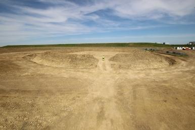 Bronze Age enclosure looking north